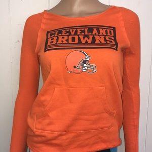 Little girls Cleveland Browns longsleeve shirt YLG